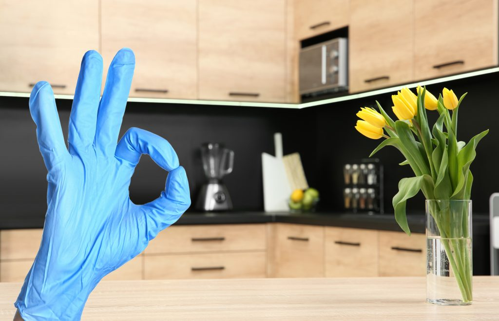 Antimicrobial kitchen countertop