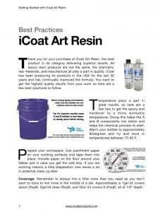 Art Epoxy Resin Best Practices PDF